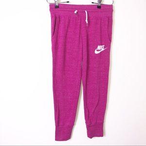 Nike Pink Vintage Gym Drawstring Capri Pants XS